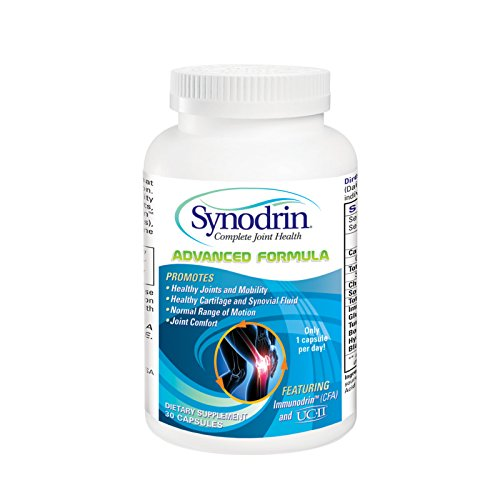 Synodrin Advanced Complete Joint and Arthritis Pain Relief Supplement - 30 Count with UC-II Collagen, Immunodrin, Turmeric, Boswellia, Hyaluronic Acid and Black Pepper Extract for Maximum Pain Relief