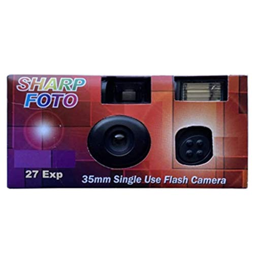 Sharp Foto Disposable Camera 35mm Film 27exp, Single-use Film Cameras ISO 200 (1-Pack)