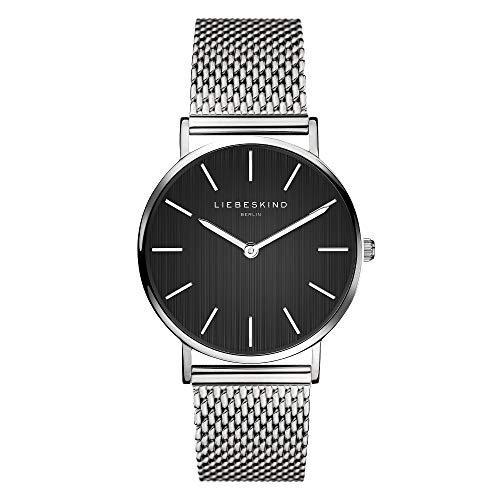 Liebeskind Berlin Damen Analog Quarz Uhr mit Edelstahl Armband LT-0201-MQ