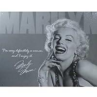 【ブリキ看板】Marilyn Monroe/マリリン・モンロー モノクロ写真 [並行輸入品]