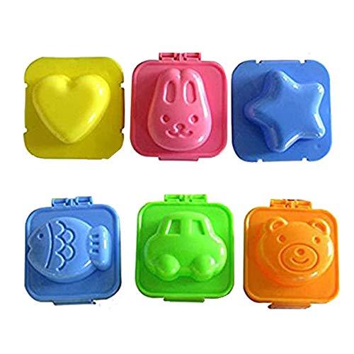 1 lot de 6 emporte-pièces de décoration en différentes formes jolies mini emporte-pièces de cuisine Bento accessoires pour enfants