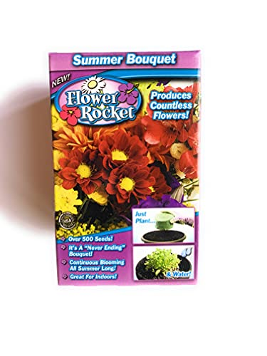 Garden Innovations Summer Bouquet Flower Rocket As Seen On TV Concentrated Seed Disc