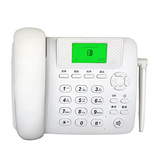 ELKeyko Teléfono inalámbrico para los Ancianos. gsm Apoyo SIMULACIÓN Tarjeta Fija Blanco Francés Teléfono Fijo Fijo Solucionado Teléfono inalámbrico Casa de Oficina