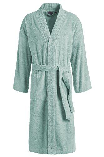 Egeria TAYLOR Unisex Bademantel in Kimonoform für Damen und Herren, Größe S - XL, Farbe Smoke Blue