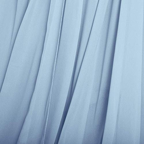 Vestido de maternidad para mujeres embarazadas, vestido de maternidad largo de gasa con hombros descubiertos, vestido elegante para boda, cuidado de enfermería, encantador para mamá, azul, Talla única