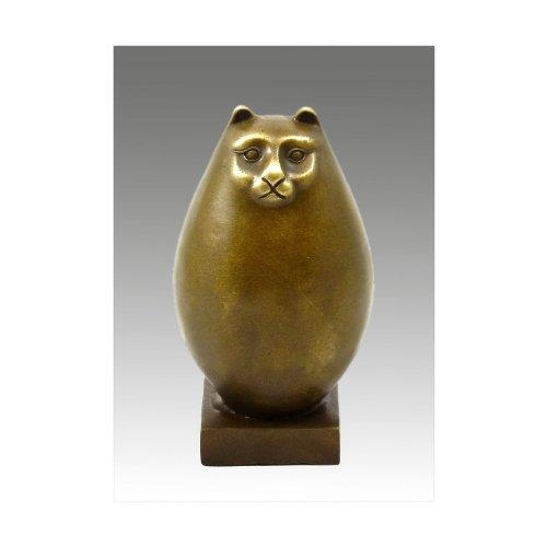 Arte & Ambiente – Figura de bronce – Gato grueso / F