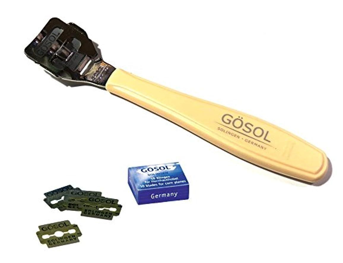 戦艦伝統見かけ上ゲーゾル(独)GOSOL ペディコーンカッター 魚の目切り(両刃替刃10枚付)