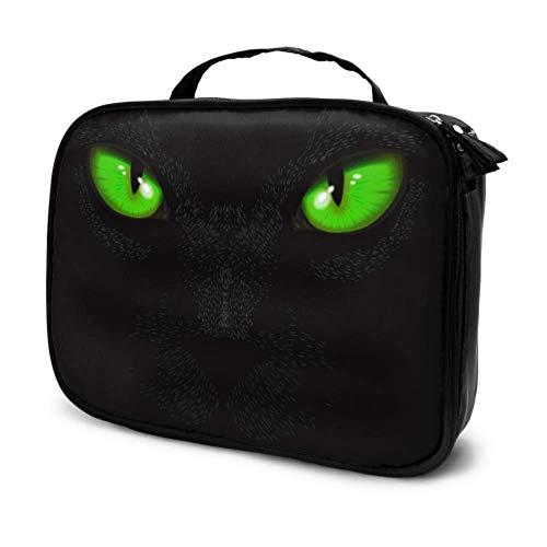 Ojos de Gato en la Oscuridad Bolsa de Maquillaje cosmética de Viaje Bolsa de Viaje de Maquillaje Bolsa de Belleza para Hombres Bolsa Impresa multifunción para Mujeres