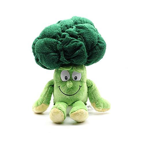 Wide.ling Nette Obst Gemüse Tier Plüschtier Baby Jungen Mädchen Stofftiere Schlaf Komfort Spielzeug Geburtstagsgeschenk Entzückende Plushie Spielzeug und Geschenke (Brokkoli)