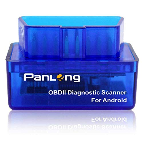 Panlong Bluetooth OBD2 OBDII Car Diagnostic Scanner Check Engine Light for Android - Compatible with Torque Pro