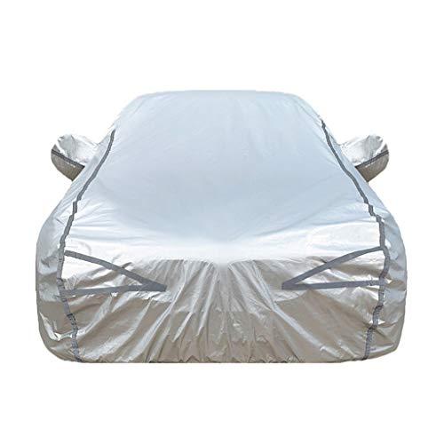 Car-Cover Kompatibel mit Audi TT TTS TTRS RS3 RS4 RS5 RS6 RS7 R8 Staubdichtes Wind Regen UV Wasserdicht Universal-volle Auto-Abdeckung mit Reißverschluss (Color : Silver, Size : RS4)