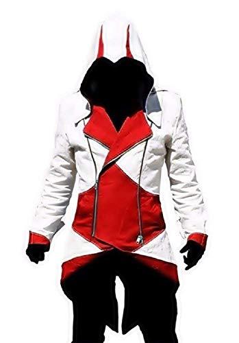 Inception Pro Infinite - Creed Attentäter Jacke - Cosplay - Verkleidung - Karneval - Cosplay - Halloween - Mann - weiß und rot Größe s - Weihnachten und Geburtstag Geschenkidee