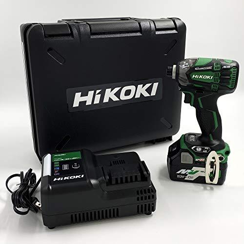 【Amazon.co.jp限定】HiKOKI(ハイコーキ) 18V コードレスインパクトドライバ WH18DDL2(LXPK) 初回修理保証付き マルチボルト蓄電池1個、充電器、ケース付き アグレッシブグリーン