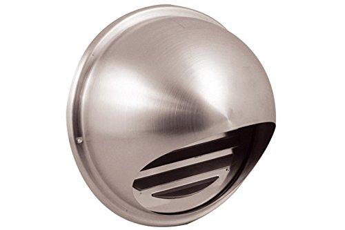 Blende aus Edelstahl für Dunstabzugshauben und Lüftungsanlagen / Außenjalousie / Rohrblende / Abdeckung / Außenhaube / Außengitter 102mm