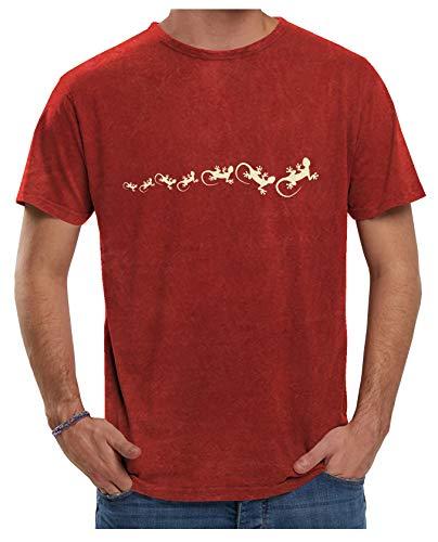 Camiseta de Marca Menorca Algodon Envejecido Ecológico (Teja Envejecido, S)