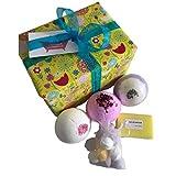 Be-Creative Juegos de regalo para bombas de baño, regalo hecho a mano, regalo de Navidad o cumpleaños (efecto calmante)