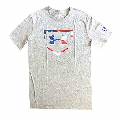 Under Armour Heatgear - Camiseta para Hombre con Bandera de Estados Unidos