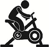 TJVXN Wandaufkleber Kunst Aufkleber und Wandbilder Rotierendes Fahrrad Personal Art Fitness Center Kreatives Wasserdichtes Zuhause Dekoratives Wandbild 60x58cm