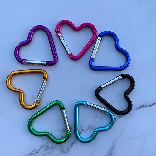 XJ Aluminium Gourd-Forme extérieure Escalade Randonnée Boucle Crochet Clip Mousqueton Porte-clés Couleur aléatoire