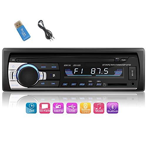 iWalker Auto Radio Bluetooth para Coche, 60W×4 Manos Libres Radio Estéreo de...