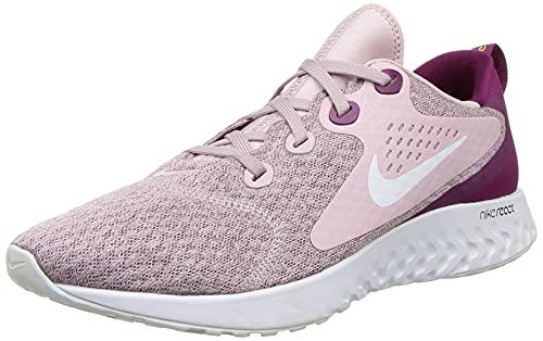 Nike Womens Legend React Running Trainers AA1626 Sneakers Shoes (UK 7 US 9.5 EU 41, Plum Chalk White Berry 500)