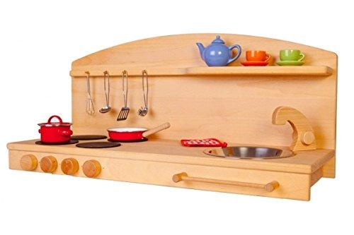 Kinder-Holz-Spielküche 1035EG - Tisch-Kinderküche - Herd Spüle - Spielhauszubehör …
