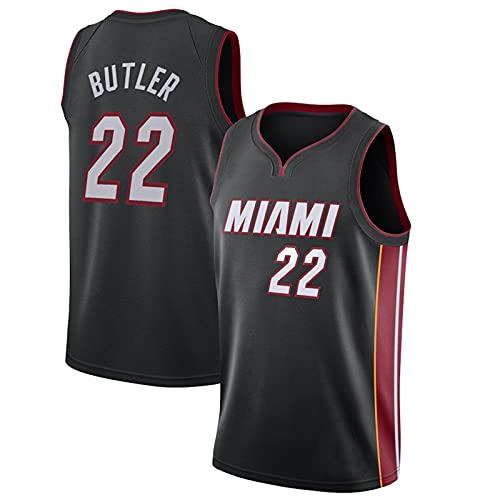 GQTYBZ Camiseta de Baloncesto para Adultos de la NBA, Miami Heat # 22 Jimmy Butler Uniforme de Fanático del Baloncesto Camiseta de Chaleco de Tela Transpirable Fresca, Camisetas Unisex