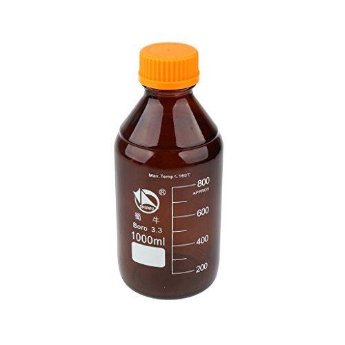 Labor Graduierte Borosilikatglas Vorratsbehälter Reagenzflasche 100 1000ml - 1000 ml