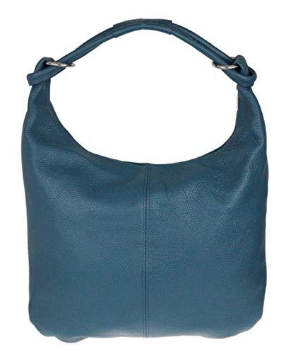 Girly Handbags Hobo Italian Wildleder echtes Leder-Umhängetasche (dunkelblaues Leder)