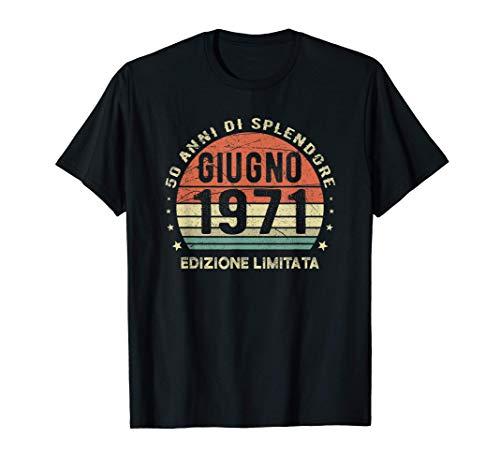 Vintage Giugno 1971 Regali di 50 Anni 50° Compleanno Retrò Maglietta