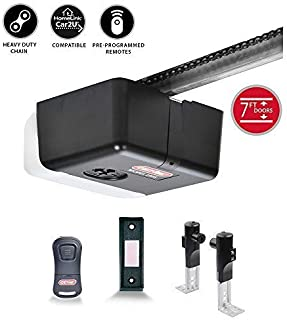Genie Chain Drive 500 Garage Door Opener - Heavy-Duty Affordable Chain Drive Drive - Includes 1-Button Pre-Programmed Remote, Lighted Wall Buton, Safe T-Beams - Model 1035-V, 1/2 HPc (Renewed)