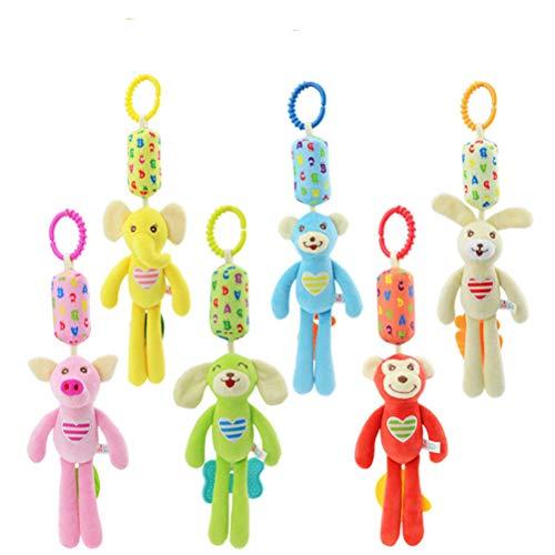 EASTVAPS - Lote de 6 juguetes para bebé de 0 a 1 año