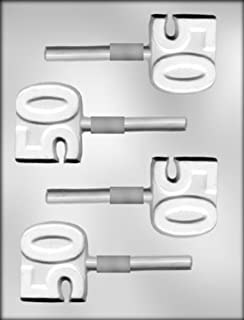 CK Products 2-Inch Number 50 Sucker Chocolate Mold