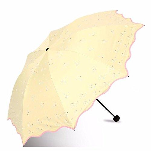 Paraguas plegable amarillo