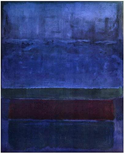 Sunsightly Azul Verde Y Marrón 1952 De Mark Rothko - Cuadros Abstractos Sin Marco Impresión En Lienzo Decoración De Pared para Sala De Estar