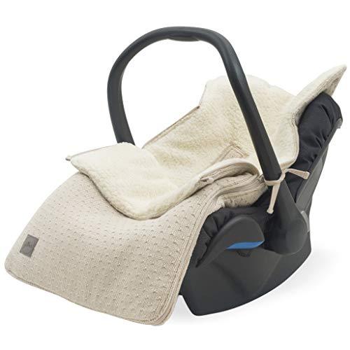 Jollein 025-811-65352 Bliss Knit Nougat - Saco para silla de bebé (82 x 42 cm), color beige
