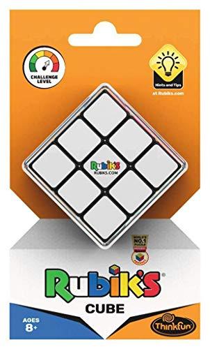 Thinkfun Rubik's Cube, der original Zauberwürfel 3x3 von Rubik's - Verbesserte, leichtgängigere Version, ideales Knobelspiel für Erwachsene und Kinder ab 8 Jahren