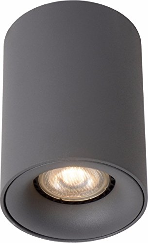 Lucide BENTOO-LED - Spot Plafond - Ø 8 cm - LED Dim. - GU10 - 1x4,5W 3000K - Gris