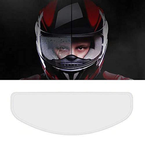 Motorradhelm Antibeschlag Folie Motorrad Helm Linse Anti Fog Schutzfolie Anti-Beschlag-Visier, Nebelvisier-Brillen, Klar HD Schutzfolie Bietet 99,9 Klarheit 25x9cm