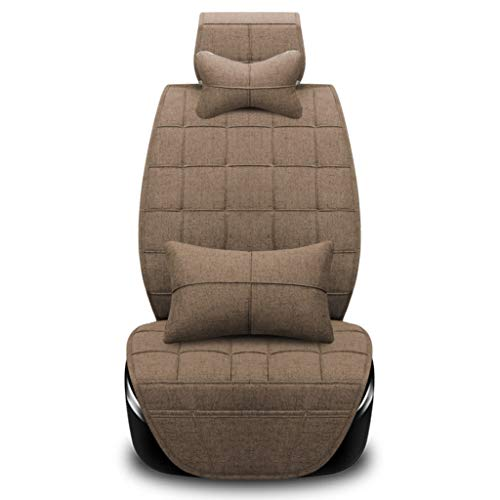 SSRS Nissan Converse/Sylphy/New Sagitar/Ling Pai/Hyundai LX35 GM four seasons all-inclusive fabric breathable simple men and women warm seat cushion car mat (Color : Gold)