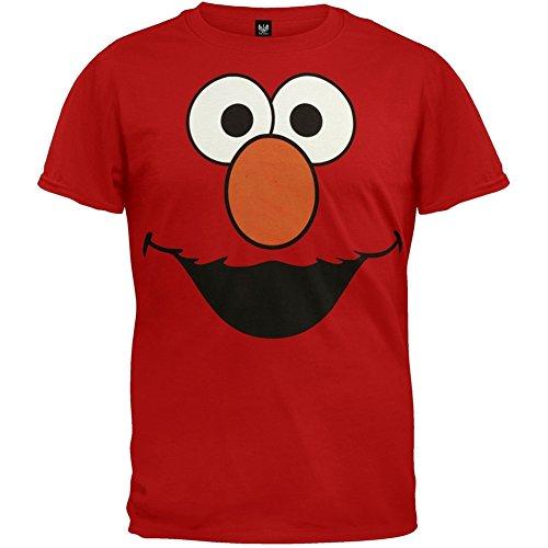 Sesamstraat - Heren Elmo Gezicht Kostuum T-shirt