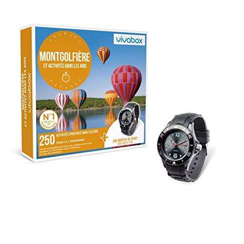 Vivabox - Coffret cadeau sensation - MONTGOLFIERE ET ACTIVITES DANS LES AIRS - 250 activités aériennes + 1 montre de sport