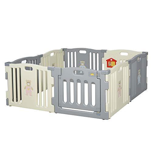 HOMCOM Parque Infantil Bebé Plegable Centro de Actividades de Seguridad Interior y...