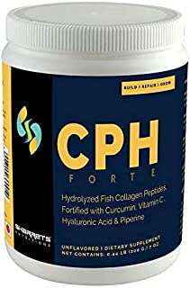 Sharrets CPH FORTE- Collagen supplement for skin and joints [ Hydrolyzed Fish Collagen Peptides, Curcumin, Vitamin C, Hyaluronic Acid & Piperine] Joint supplement, Sports nutrition, UNFLAVORED, 200g
