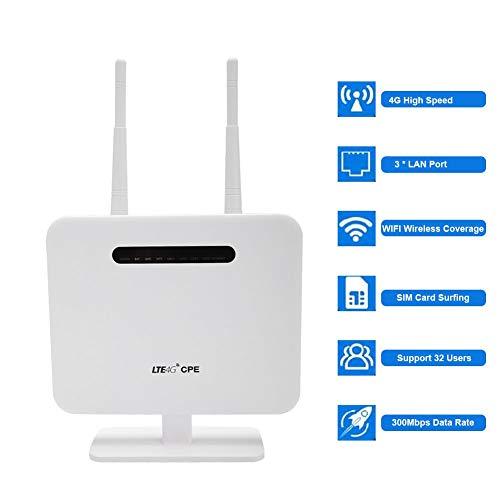 Diyeeni WiFi router DC5V 2A / USB 5V 2A 300 Mbit/s verliesvrije gegevensoverdracht 4G LTE WiFi router, bekabelde/draadloze dual mode wifi-repeater