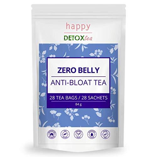 Happy Detox Tea - ZERO BELLY - ANTI-BLÄHUNGEN-TEE - 4 Wochen - 28 Teebeutel