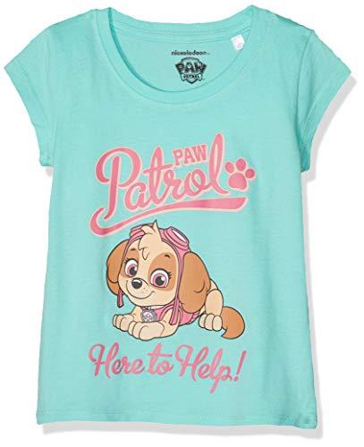 Pat patrouille Mädchen T-Shirt 6277, Turquoise, 4 Jahre