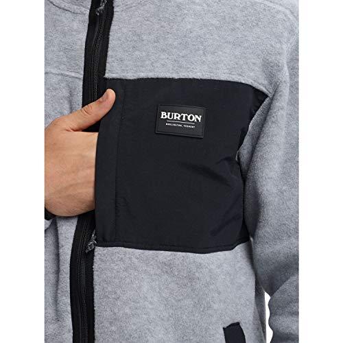 Burton(バートン)スノーボードフーディーパーカーメンズフリースフルジップMEN'SHEARTHFULL-ZIP2019-20年モデルLサイズGRAYHEATHER/TRUEBLACK20829101020