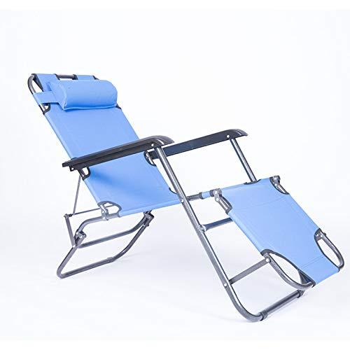 LGYKUMEG Liegestütze Liege Liegepositionen Faltbarer Folding-Camping-Stuhl für Erbterse, Camping-Klappbett, für Strand, Garten & Balkon,Blau