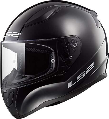 LS2 Rapid Mini Casco de Moto, Infantil, Negro Brillante, Medium